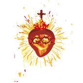 Kutsal yürek — Stok Vektör