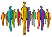 Pessoas coloridas — Vetor de Stock