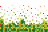 Abstract green pixelated — Stock Vector