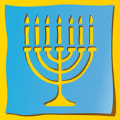 Menorah — Stock Vector