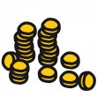 Stack of coins - Stock Vector