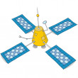Artificial satellite - Stock Vector