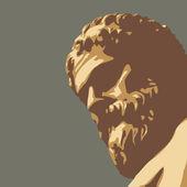 Ancient statue — Stock Vector