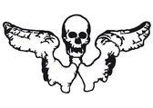 Winged skull — Stock Vector