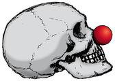 Clown skalle — Stockvektor
