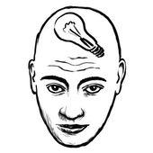 Face idea — Stock Vector