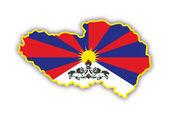 Map tibet — Stock Vector