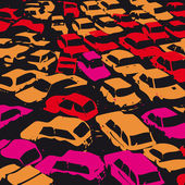 Traffic jam — Stock Vector