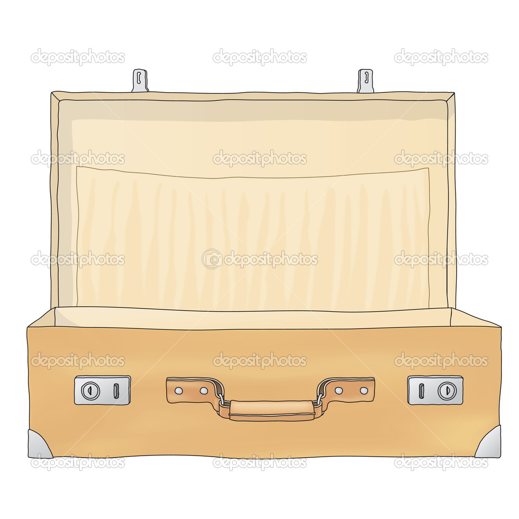 Open Briefcase Vector Open Suitcase Vector by