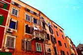 Colorful house facades — Stock Photo