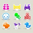Baby icons set. — Stock Vector
