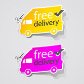 Abstract Free Shipping label sign. — Stock Vector
