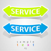 Abstract service pointer. — Stock Vector