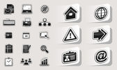 Set of business icons stickers. — Wektor stockowy