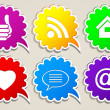 Abstract icons for Internet. — Stock Vector