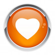Bouton internet coeur icon. — ストックベクター #11345676