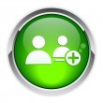 Bouton internet contact. — Stock Vector