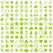 Obchodní ikonu nastavit tlačítko znamení. — Stock vektor