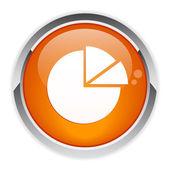 Bouton internet graphique diagramme icon. — Stock Vector