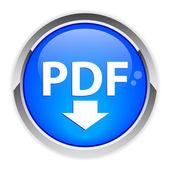 PDF Button — Stock Vector