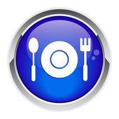 Bouton internet restaurant. — Stock Vector