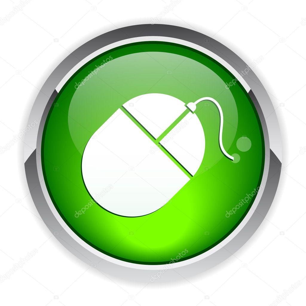 bouton internet souris ordinateur icon stock vector maxsim 11399882. Black Bedroom Furniture Sets. Home Design Ideas