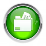 Button file folder icon. — Stock Vector