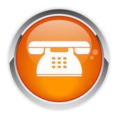 Button internet phone symbol — Stock Vector