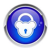 кнопку онлайн-безопасности. — Cтоковый вектор