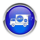 Button service icon — Stock Vector