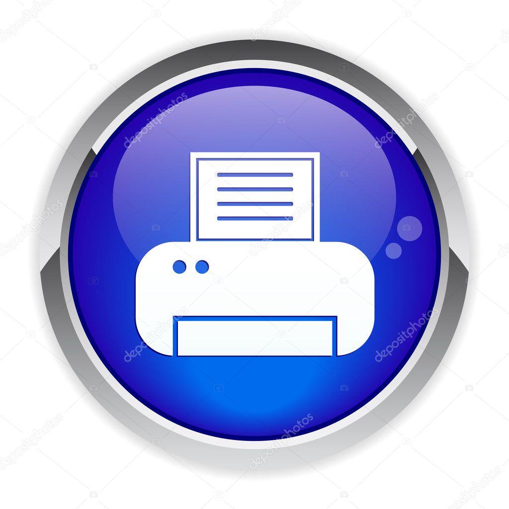 Button Internet print icon. — Stock Vector © maxsim #11407281