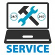 Stock Vector: Computer repair service