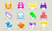 Color icons baby. — Stock Vector