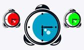 Kleurrijke horloges. — Stockvector