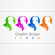 Royalty-Free Stock Vector Image: Graphic sign color girl.