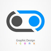 Graphic design business sphere icon — Stock Vector