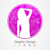 Graphic Design Fashion Star — Stock Vector
