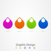 Graphic design logo droplet. — Stock Vector