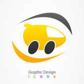 Graphic design logo car. — Stock Vector