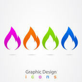 Graphic design logo flames. — Stock Vector