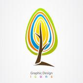 Graphic design logo tree. — Stock Vector