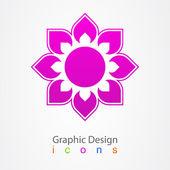 Flor insignia del diseño gráfico. — Vector de stock
