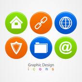 Grafický design sada obchodních ikony tlačítek. — Stock vektor
