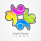 Graphic design social label. — Stock Vector