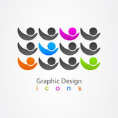 Graphic design social network. — Stock Vector