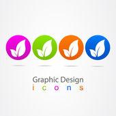 Graphic design symbol leaf — Stock Vector