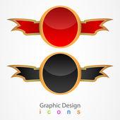 Graphic design sticker set. — Stock Vector