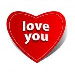 Heart valentine label. — Stock Vector