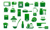 Kitchen icon set. — Vettoriale Stock
