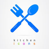 Kitchen Logo icon set. — Stock Vector